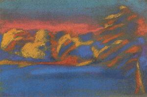 Paysage abstrait, montagne