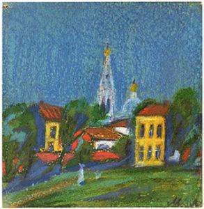 Paysage aux clochers n°1