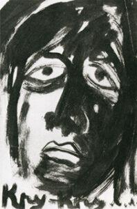 Portrait du poète Kroutchenykh